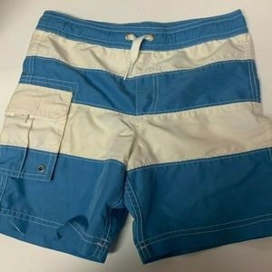 Hanna Andersson Swim Trunks Youth Blue White